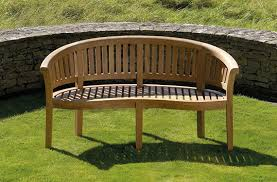 Bench Stockists by Bramblecrest Garden Furniture Broadway Banana Bench 8cm Scroll