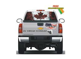 100 Pickup Truck Rear Window Graphics Weathered Canadian Flag Film Vehicle Car Santas Perfect