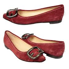shoes for women flat burgundy suede shoes 8x2825 ffw06
