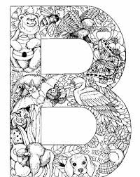 Complex Letters Coloring Pages For Adults