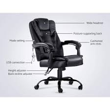 Artiss Electric Massage Office Chairs PU Leather Recliner Computer ... Invicta Office Chair Xenon White Shell Leather Lumisource Highback Executive With Removable Arm Covers Sit For Life Tags Star Ergonomic Family Room Amazoncom Btsky Stretch Cushion Desk Chairs Seating Ikea Costway Pu High Back Race Car Style Merax Ergonomic Office Chair Executive High Back Gaming Pu Steelcase Leap Reviews Wayfair Shop Ryman Management Grand By Relax The Ryt Siamese Cover Swivel Computer Armchair