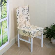 Unique Bargains Stretch Washable Short Dining Room Chair Cover Seat Protector Slipcover