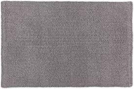 schöner wohnen kollektion badteppich 67 x 110 cm beidseitig verwendbar waschbar 100 baumwolle einfarbig hellgrau
