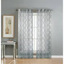 Navy Geometric Pattern Curtains by Geometric Curtain Panels Lattice Geometric Sheer Grommet Curtain