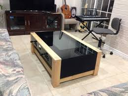Diy Mame Cabinet Kit by Diy Arcade Coffee Table Arcade Coffee And Gaming Setup