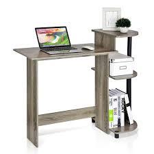 furinno 11181gyw bk compact computer desk french oak grey black