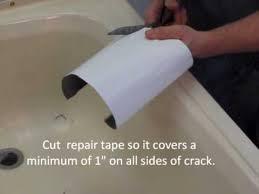 repairing a cracked bathtub or shower