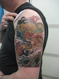 Cool Dragon Tattoos For Men On Half Sleeve