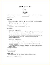 Good Resume Examples For First Job Cv Easy Like