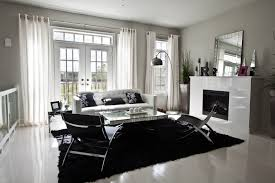 black and white chairs living room home design