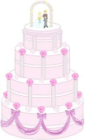 Clip Arts Related To Wedding cake clipart