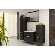 bali ensemble salle de bain simple vasque l 60 cm noir et décor