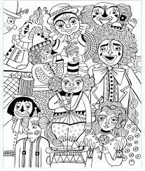 Circus Adult Colouring Book Art Anti Stress Relaxing Gift Present Creative Calm In Books Comics