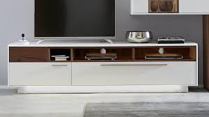 interliving wohnzimmer serie 2102 lowboard 510203 dunkles asteiche furnier weißer mattlack breite ca 215 cm