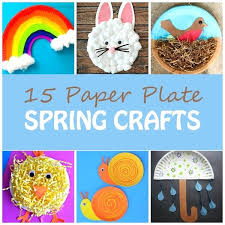 Preschool Spring Crafts Paper Plate For Kids Rainbow Bunny Nest With Bird Chick Easy