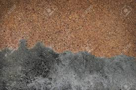 Sandy Gravel Surface And Old Cement Floor Top View With Copy Space For Web
