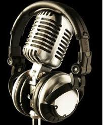 My Honey Pillow 4 Panel Canvas Painting Metal Microphone And Headset Picture On Stretched By Wooden FramesFor Living Room