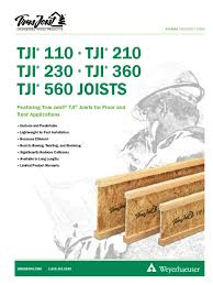 Tji Floor Joist Span by Wood Joist Catalog Framing Construction Structural Engineering