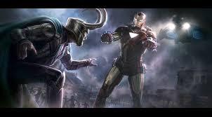 Andyparkart The Avengers Iron Man V Loki