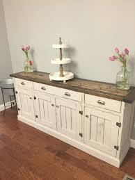 Dining Room Buffet So Pretty Love The Two Tone Finish Rustic Planked Wood Sideboard Anna