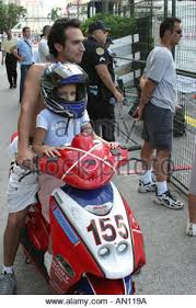 Miami Florida Girl Wearing Helmet On Motor Scooter