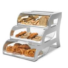 Get Quotations Rosseto BK010 3 Tier Bakery Display Case With Stainless Frame