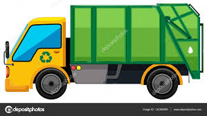 Rubbish Truck On White Background — Stock Vector © Blueringmedia ...