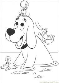 Clifford Coloring Pages For Kids Free To Print Book Drawing Art Sheets Pictures Dog Animals Pool