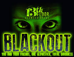 blackout at 13th floor haunted house in denver colorado