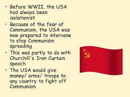 Churchills Iron Curtain Speech by The Truman Doctrine Lesson Starter Describe The Content Of