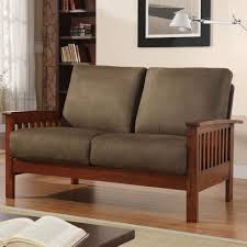 Microfiber Couch Lovely Interesting Chocolate Gray Oak Wood Mission Style Sofa