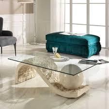 design couchtisch aus glas und stein