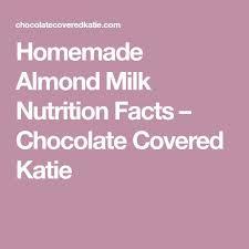 Libbys Pumpkin Nutrition Info by Best 25 Almond Milk Nutrition Facts Ideas On Pinterest Coconut