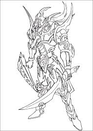 Yu Gi Oh Black Luster Soldier Coloring Picture For Kids