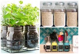 15 Creative Inexpensive Mason Jar Kitchen Storage Ideas