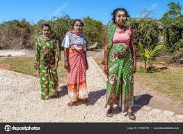 Malagasy Women With Their Traditional Outfits Stock Editorial