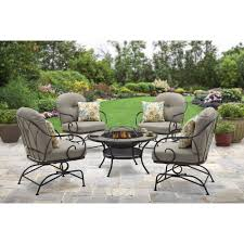 Patio Furniture Conversation Sets With Fire Pit by Patio Furniture Montana Piece Fire Pit Chat Set In Autumn Berry
