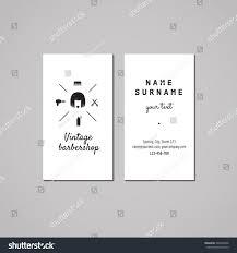 Barber Shop Hair Design Ideas by Barbershop Hair Salon Business Card Design Stock Vector 246926698