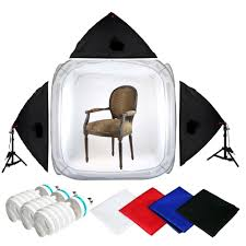 100 Studio Tent Pro STUDIO IN A BOX 1500 Watt Output 48 Inch PHOTO LIGHT TENT PHOTOGRAPHY SET