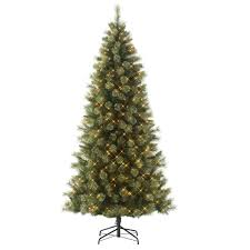 9 Ft Pre Lit Slim Christmas Tree by Slim Prelit Christmas Tree Ebay