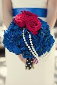 Love Unites Wedding Inspiration Bridal Bouquet RedBlue
