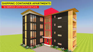 100 Homes From Shipping Containers Floor Plans Amazing 8 Apartment Housing Units With Built Using 16 MODBOX 3840