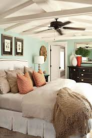 Peaceful Turquoise Blue Cottage Style Bedroom
