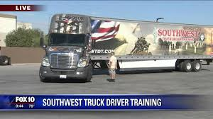 Southwest Truck Driver Training On KSAZ - YouTube Commercial Driver Traing Arkansas State University Newport Jtl Omaha Class A Cdl Truck Education Driving School Truck Driving Traing In Pa Rosedale Technical College Nsw Grant Helps Veterans Family Members Pay For Hccs Driver Professional Courses California Trucking Shortage Drivers Arent Always In It For The Long Haul Kcur Bus Union Gap Yakima Wa C License Ipdent Reyna 1309 Callaghan Rd San Antonio Tx 78228 Home