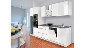 respekta premium küchenzeile glrp345hwwgke 345 cm weiß