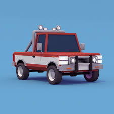 Pickup Truck Low-poly By Saturn_74 | 3DOcean