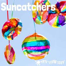 TISSUE PAPER SUNCATCHER CRAFT These DIY Suncatchers Are A Gorgeous Summer Craft For Kids