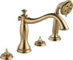 Delta Champagne Bronze Bathroom Faucet by Delta T4797 Czlhp Champagne Bronze Cassidy Roman Tub Faucet Trim