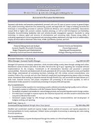 Account payable resume display your skills as account payable specialist The interpersonal skills are mentioned