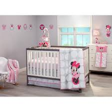 Minnie Mouse Twin Bedding by Disney Baby Minnie Mouse Polka Dots 4 Piece Crib Bedding Set